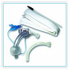 """Трахеостомическая трубка Blue Line Ultra 8,0 мм с манжетой низкого давления высокого объёма """"Софт Сеал"""", фенестрированная, в наборе с двумя внутренними канюлями"""